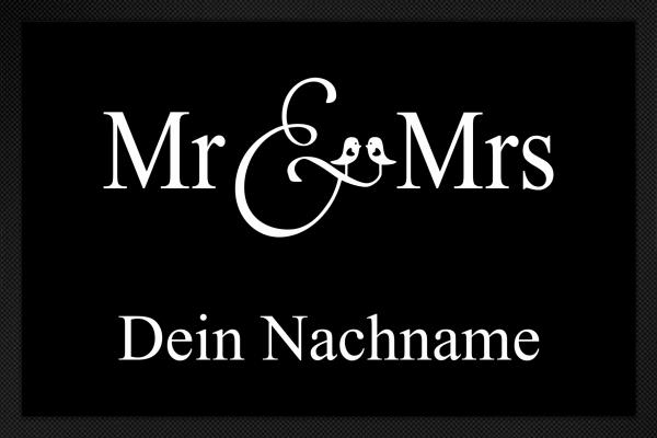 Fußmatte Mr. und Mrs.