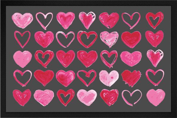 Fußmatte mit Herzen