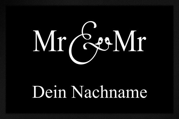 Fußmatte Mr. und Mr.