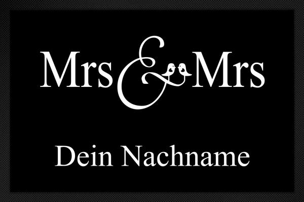 Fußmatte Mrs. und Mrs.