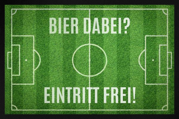 Fußmatte Fußballfeld