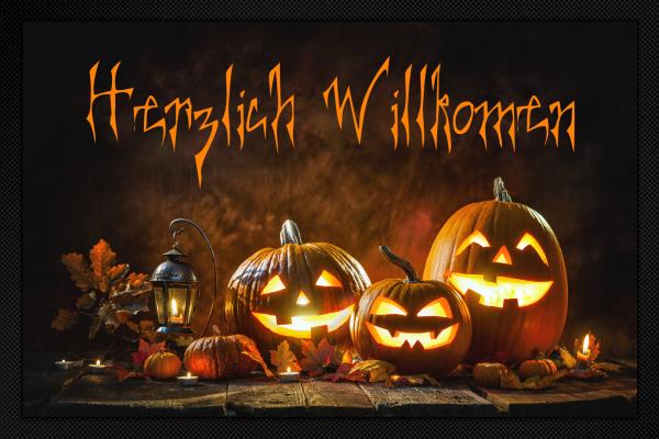 Fußmatte Halloween Herzlich Willkommen