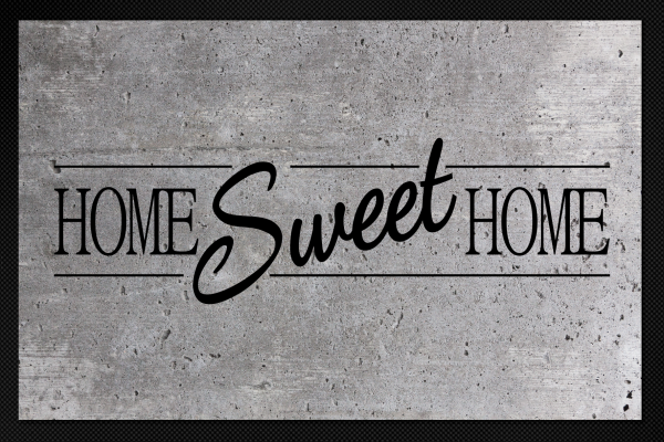 Fußmatte Home Sweet Home Beton