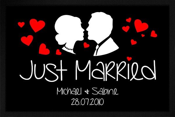 Fußmatte Just Married