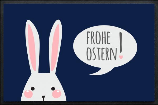Fußmatte Frohe Ostern mit Osterhase