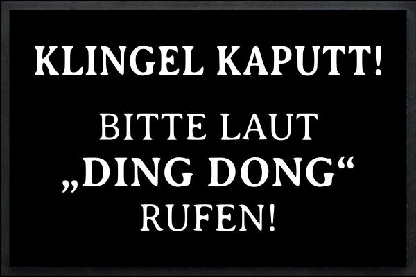 Klingel Kaputt - Bitte laut DING DONG rufen